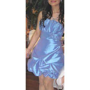 Laura Petites Short Strapless Occasion Dress
